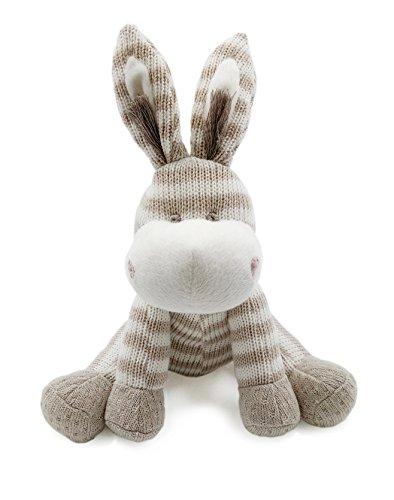 ter Spielzeug | sehr weiches Esel Plüschtier für Baby / Säugling / Kleinkind | Bio-Baumwolle stricken (Einfache Thanksgiving-handwerk Für Kleinkinder)