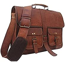Znt Bags Original Leather Laptop Bag/Bagpack/Satchel Messenger Bag/Office Bag/Briefcase for Men/Women/Ladies/Boy/Boys/Girl/Girls/Gents/Ladies/Unisex for School/College/Daily Use/Laptop/Sling/Messenger/Cross-Body/Shoulder/Side/Handbag/Branded Bags (Chocolate)