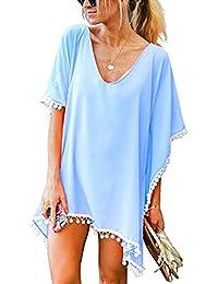 JMITHA Damen Strandponcho Sommer Strandkleid Sommerkleid Bikini Badeanzug Cover Up