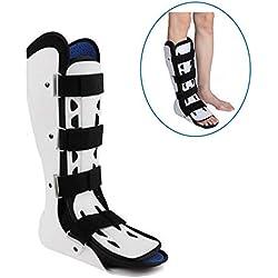 ASZX Orthesen Nachtschiene, Achillessehnenentzündung Plantarfasziitis Ruheschiene, Fußabsenkungsorthese, Knöchelfraktur-Stiefelschiene,RightfootS