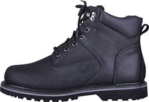 Almwerk Damen und Herren robuste Herbst-Winter-Schuhe mit oder ohne Fütterung, Schwarz, 43
