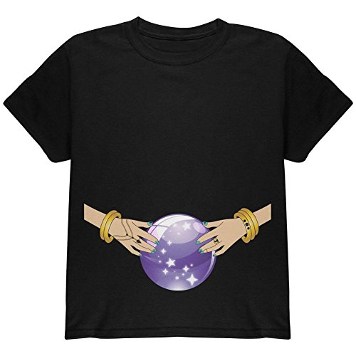Halloween Fortune Teller Kostüm Zigeuner Jugend T Shirt schwarz YLG (Fortune Teller Zigeuner Kostüme)