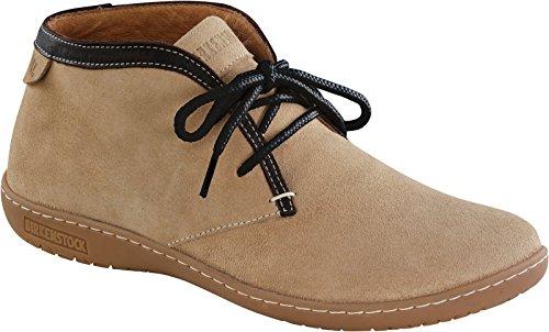 Birkenstock-Scarba-Damen-Boots-Schnrer-Veloursleder-Sand-427073-Schmales-Fubett-EU39