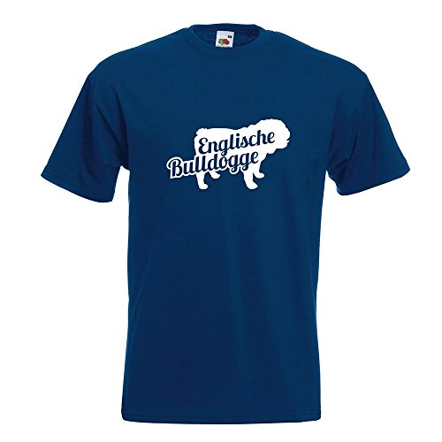 KIWISTAR - Englische Bulldogge mit Name T-Shirt in 15 verschiedenen Farben - Herren Funshirt bedruckt Design Sprüche Spruch Motive Oberteil Baumwolle Print Größe S M L XL XXL Navy