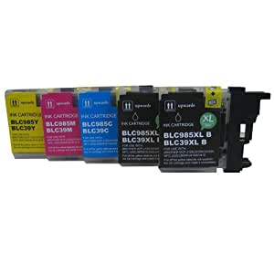 5 CiberDirect High Capacity Compatible Ink Cartridges for use with Brother DCP-J140W Printers.