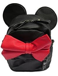 Preisvergleich für Winzig Unisex Fashion Minnie Mouse Ohren & rote Schleife Student Schule Rucksack - von fett-catz-kopie-catz