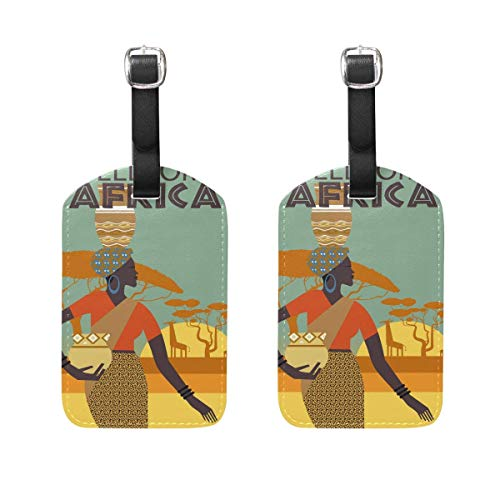 Wellcome Africa Original Luggage Travel Tags Accessories Leather Baggage 2 Of Suitcase Women Set bvY6y7fg
