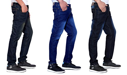 London Looks Men Slim Fit Multi Color Jeans Combo Of 3 (32)