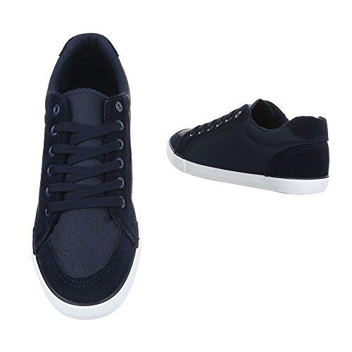 Ital-Design , Chaussures à lacets homme bleu foncé