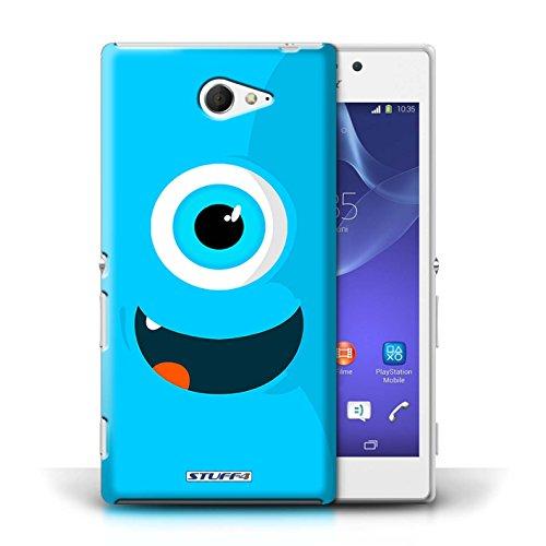 Kobalt® Imprimé Etui / Coque pour Sony Xperia M2 / Bleu conception / Série Monstres Bleu