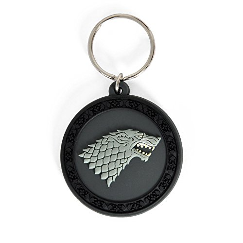Game Of Thrones - Haus Stark, Der Winter Naht, In Englisch, Gummi Fan-Schlüsselanhänger (6 x 4cm)