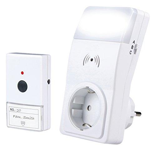eurosell–Carillon sans fil–Sonnette avec porte-nom Plaque de sonnette + récepteur sans fil