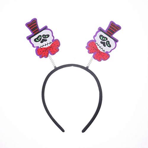 Myspace 2019 Neueste Dekoration für Halloween Party Kürbis Gespenstischer Kürbis Kopf Stirnbänder Anzieh Accessoires (C)