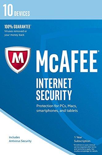 McAfee Internet Security - Software Edition 2018 von der Herstellerseite | 10 Geräte | 1 Jahr | mit den neusten Updates FFP(Frustfreie Verpackung)
