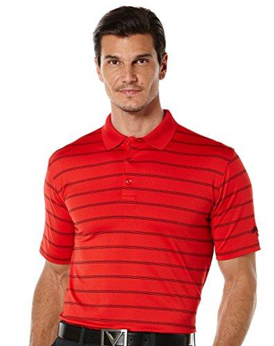Callaway Herren Opti-Vent Kurz Ärmel Gestreift Polo, Herren, Rot - Tango Red, Large (Tango Mann Kostüm)
