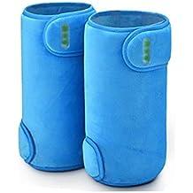 Huidv El calentamiento de la rodillera correa de soporte de rodilla masajeador piernas calientes viejos ancianos Artritis Fiebre eléctrico Tratamiento de Calor rodilla , sky blue