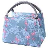 حقيبة طعام قماشية محمولة معزولة مخططة للنساء، حقيبة توت حرارية لحفظ طعام الاطفال في النزهات مع تبريد