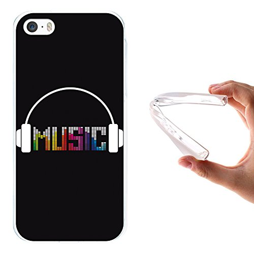 iPhone SE iPhone 5 5S Hülle, WoowCase Handyhülle Silikon für [ iPhone SE iPhone 5 5S ] Seefahrerstil- Leuchtturm Handytasche Handy Cover Case Schutzhülle Flexible TPU - Transparent Housse Gel iPhone SE iPhone 5 5S Transparent D0191
