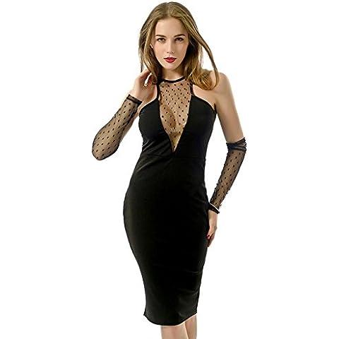 Bende di garza bianco e nero femmina sexy Club Abiti