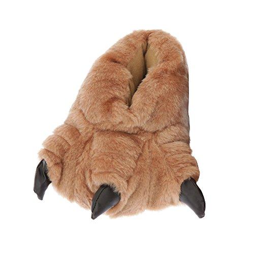 Kinder Hausschuhe Monster-Füße (EUR 30-31) (Braun) (Hausschuhe Fuß Monster)