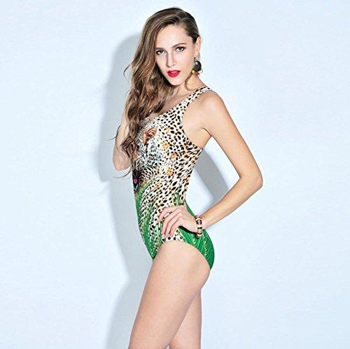 XLHGG Frauen-Dreieck-Bikini-Badeanzug-Leopard-heiße Frühlings-Badeanzüge l