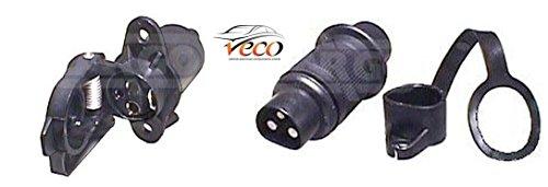 180307und 180308Universelle 3-polige Stecker und Buchse für Anhänger für 12Volt Seilwinde für hohe Beanspruchung