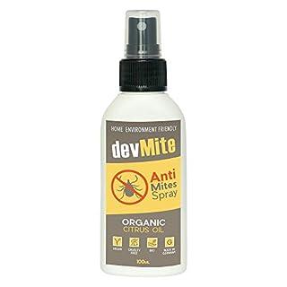 Milbenspray für Matratzen von devMite | 100ml BIO Ungezieferspray gegen Milben | 100% Natürliches Milbenschutz Spray | Tolle Milbenbezug Alternative