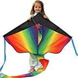 Huge Rainbow Kite For Kids - One Of The Best Selling Toys For Outdoor Games Activities - Good Plan For Memorable Summer Fun - This Magic Kit Comes With Lifetime Warranty & Money Back Guarantee ...