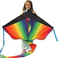 Grande aquilone arcobaleno in vendita- aquilone perfetto per bambini, facile da usare- leggero e resistente- Rimborso 100% garantito