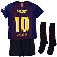 15a77b11a UKSoccershop 2018-2019 Barcelona Home Nike Little Boys Mini Kit (Lionel  Messi 10)