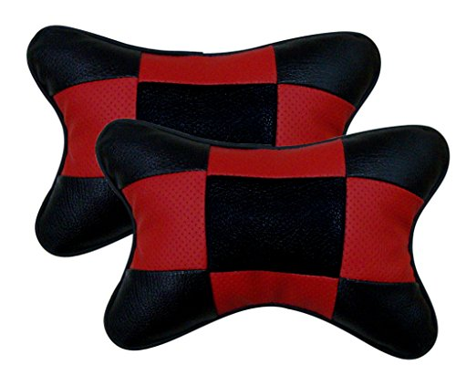 auto pearl- premium make square red&black car neck cushion/neck pillow for all cars Auto Pearl- Premium Make Square Red&Black Car Neck Cushion/Neck Pillow For All Cars 41g rVKN3VL