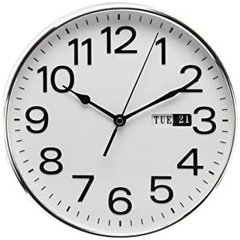 Acctim 21027 Supervisor DayDate Wall Clock White Amazoncouk