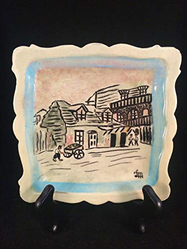 Lafitte Blacksmith Shop New Orleans LA Quadratischer Teller, 15,2 x 15,2 cm