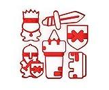 3DREAMS 6er Set Keksausstecher Ritter Ausstecher Burg Schwert Ausstechform Mittelalter Schild inkl. 2 Rezepten und Anleitung aus Bio Kunststoff Made in Germany