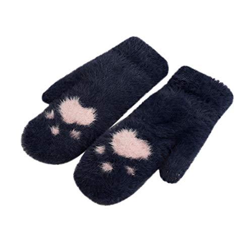 Happy Event Winter Verdickte Ganze überdachte Fingerhandschuhe für -