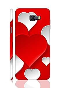 AMAN Love Pattern with Multi Seeing 3D Back Cover for Samsung Galaxy C9 Pro