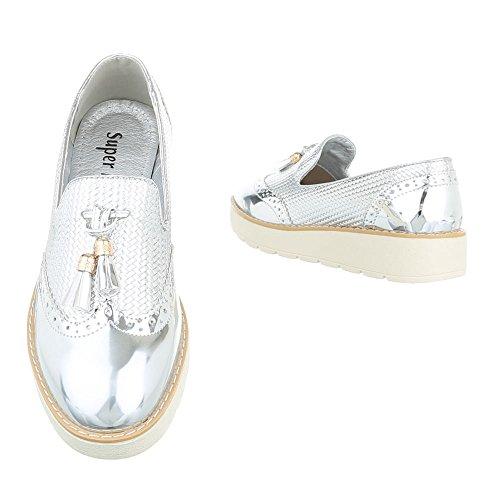 Ital-Design - Pantofole Donna , argento (argento), 38
