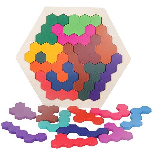 Cutogain Holzpuzzles Spielzeug für Kinder Geometrie Logik Puzzle Kinder Pädagogisches Spielzeug Intelligenz Training