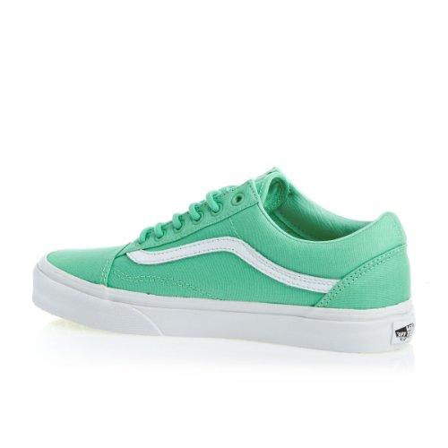 Vans U Old Skool, Chaussures de Sport Mixte Adulte vert - blanc
