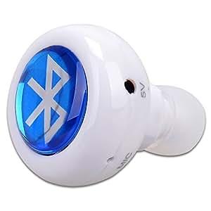 Haibei Mini 3.0 Stereo Wireless Auricolare Bluetooth Cuffia senza fili in-ear Mini mani libere auricolari Bluetooth per il iPhone 6 5S 5C 5 4S iPod iPad e la maggior parte dei dispositivi Bluetooth (Bianco)