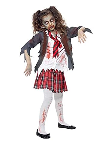 Zombie Halloween Costumes Filles - Costume Ecoliere Zombie Fille L 10/12ans Deguisement