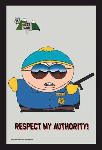 empireposter - South Park - Cartman Police - Größe (cm), ca. 20x30 - Bedruckter Spiegel, NEU - Beschreibung: - Bedruckter Wandspiegel mit schwarzem Kunststoffrahmen in Holzoptik -
