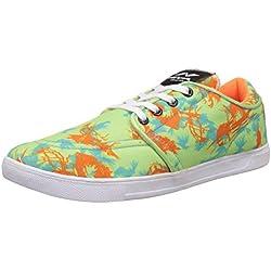 Nivia Men's Green and Orange Sneakers - 9 UK/India (42 EU)(4973)