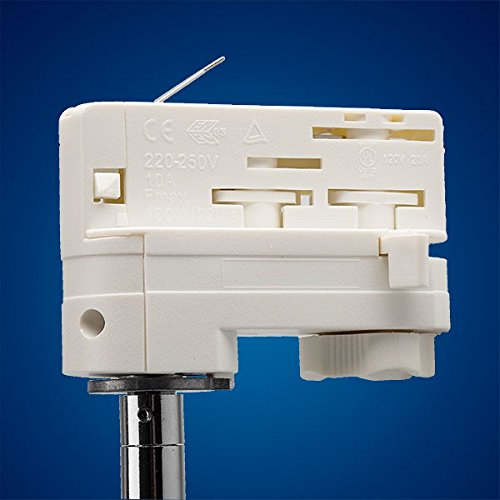 Mextronic 8W Tageslicht weiss led 3 phasen strahler für Schienensystem Schienen Strahler Schienen Leuchte - 3