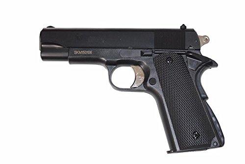 REPLIQUE PISTOLET A BILLES M80.45 1911 NOIR SPRING HFC 0.5 JOULE HA102B SWK AIRSOFT