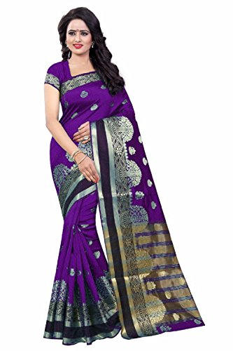 RAMAPIR FASHION Women's Cotton Silk Partywear saree with Unstitched Blouse Piecs with Different Colours (Women Most Beatufull In This Cotton Silk Saree with Jacquard Work.) saree below 500 saree below 1000