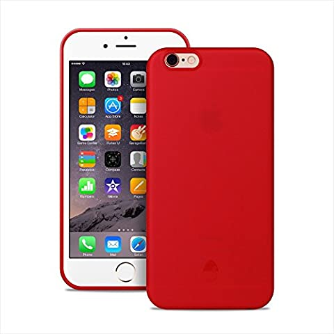 Iphone 6s Ultra Slim Thin Case Transparent Jelly Clear Red