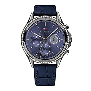 Tommy Hilfiger Womens Multi dial Quartz Watch with Leather Strap 1781979
