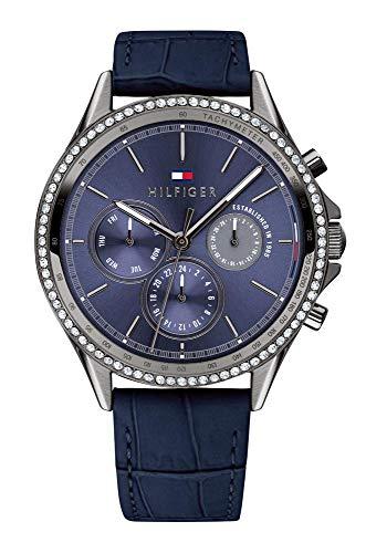 Tommy Hilfiger Damen Multi Zifferblatt Quarz Uhr mit Leder Armband 1781979