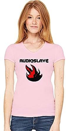 Audioslave Logo Womens V-neck T-shirt Small